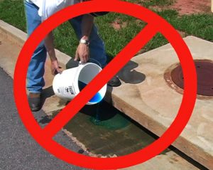 prevent pollution of storm drains